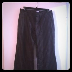 Pinstriped wise leg pants
